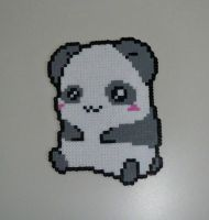 Hama beads panda by AngelLale87