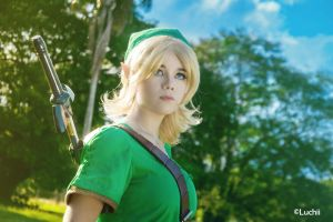TLOZ Ocarina of time - Link (Female Ver.) by luchia-28