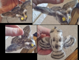 Felted Screech Owl by DancingVulture