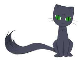 Transparent Blue-Gray Cat by Ozai-Fanatic