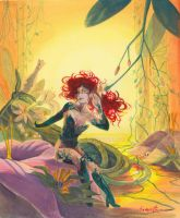 Poison Ivy at her Grove by cyanineblu