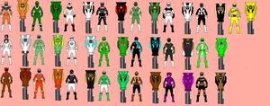 All Of Gokai Brown's Ranger Keys by MorbyGanaWhoDA