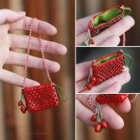 1/6 Strawberry bag for a Doll by striped-box