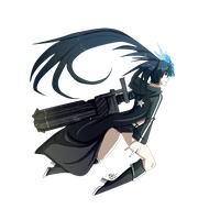 Black Rock Shooter by MoonlightTheWolf