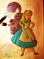 Alice and the Cheshire Cat by MarioOscarGabriele