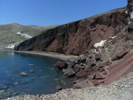 Red beach, Santorini by NastasiaHands