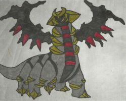 Giratina Commish Coloured by CoolMan666