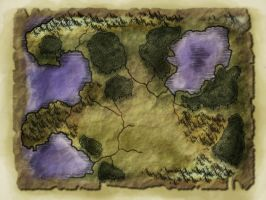 Blank fantasy map by Froggybre