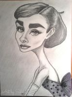 Audrey Hepburn Caricature 2013 by lotus73