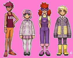 Gijinka - MLP girls by emlan
