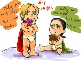 child Thor Loki by KBRRS