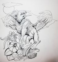 Griffen tatto design by TheArtyMadCow