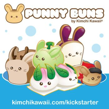 Kickstarter: Punny Buns 2 Stretch Goals by kimchikawaii
