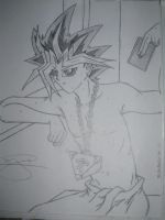 Yami after bath by YuGiOh4Ever