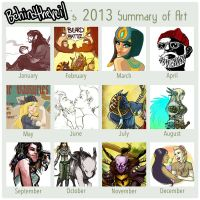 2013 Summary of Art by BehindtheVeil