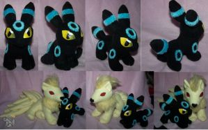 Mini Chibi Shiny Umbreon plush by YutakaYumi