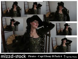 Pirates - Captain Ebony Black Portrait Pack 6 by mizzd-stock