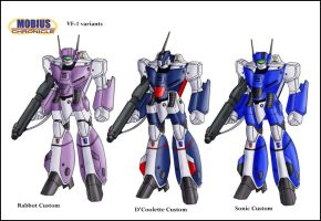 Mobius Chronicle:VF-1 variants by zeiram0034