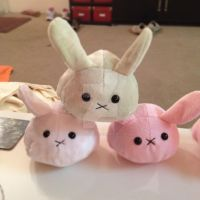 Kawaii Mochi Bunnies Plush by kimchikawaii