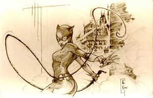 catwoman commission sketch by alexkonat