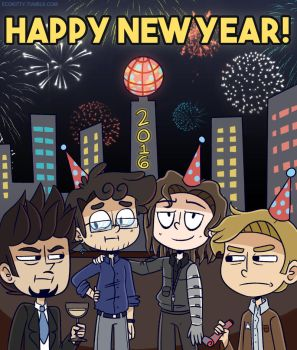 AsktheScienceBros- New Years 2016 by ecokitty