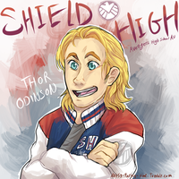 SHIELD High: Thor Odinson by Aibyou