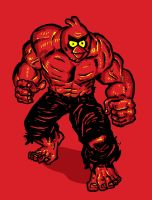 Angry bird Hulk Red by biotwist