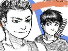 Raph and Leo by Mababwion1