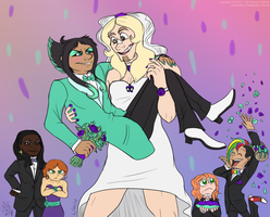 A Very UnCanon Wedding by AlfaFilly