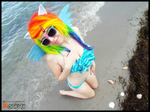 (MLP) Rainbow Dash at the Beach (Bikini Cosplay) by KrazyKari