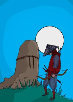 Samurai at night by ChesterCobblepot
