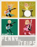 Penny and the Trips by liliribs
