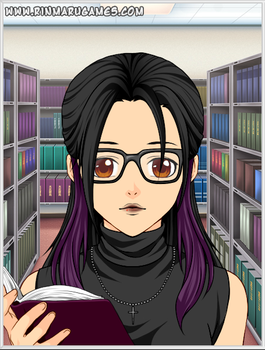 Miss Willow - Pasta City's Goth Librarian by FearOfTheBlackWolf