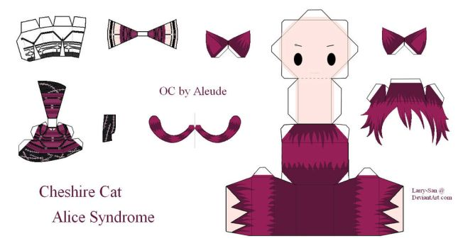Alice Syndrome Papercraft - Cheshire Cat by Larry-San