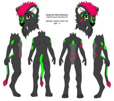 Hindor Reference Sheet by Wolffe-Soulspirit