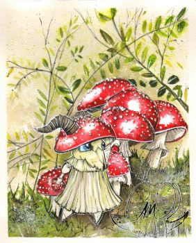 Amanita muscaria Red Cap Mushroom by MeeschaMouse