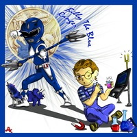 Billy The Blue Ranger by DK-DarkKitty