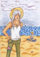 Squalo and Bel on holidays XD by Tessay