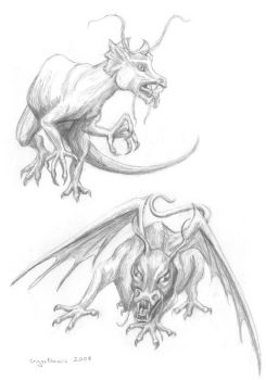 Monstrous sketches by crysothemis