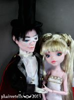 Monster high repaint Queen Serenity Tuxedo Mask by phairee004