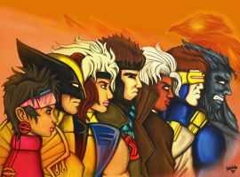 X-MEN Team by VICTORIA-Badwolf
