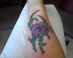 Stitched Rose Tattoo by PhantomTwilightWind