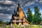 Heddal stave church by Enigmaticus