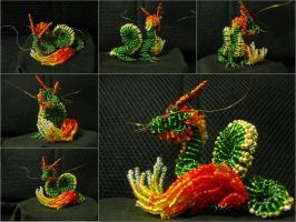Chaquira lung dragon by freetobe