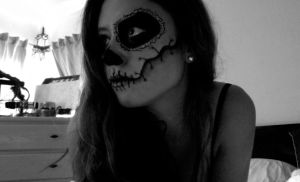 Day of The Dead Stitched Up Skull Picture #2 by natalialeamakeup