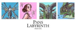 POST IT PANS LABYRINTH by QuinteroART