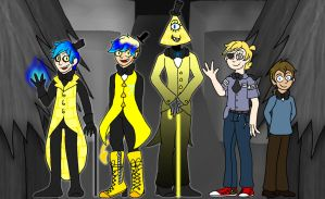 Bill Cipher's Human Designs (Colored) by Anime-Greek