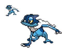 Frogadier Sprite by TacoParty125