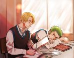 ZoSan in the class by Yuushishio