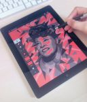 Ella Fitzgerald - Digital art on Ipad by Ptitecao
